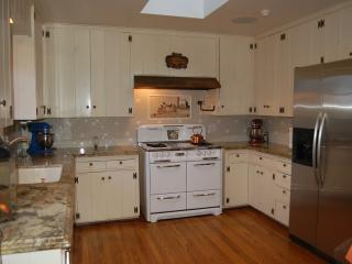 kitchen with antique stove