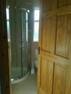 1 bathroom with electric power shower