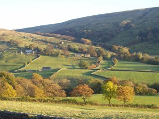 Autumn colour in Dentdale - view from the cottage