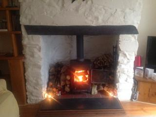 A roaring fire , which makes the cottage even cosier in the winter