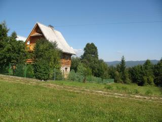 Amazing views wooden mountain home, Falsztyn, near Pieniny national park