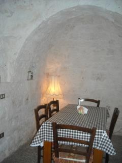Dining area of the trullo