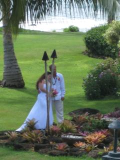 Wedding in the garden by the beach