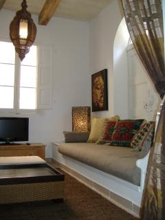 Moroccan Style Living Room [2 x single sofa beds]