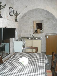 kitchen area of trullo
