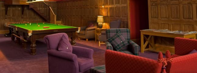 The Highland Club Lounge with full-size snooker table