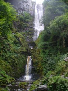 Pistyll Rhaeadr Waterfall one of the Wonders of Wales. 2 miles from Riverside Retreat