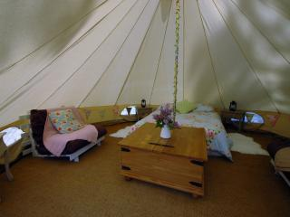Spacious 5m bell tent interior