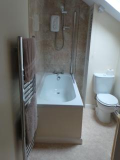 New bathroom electric shower & heated towel rail