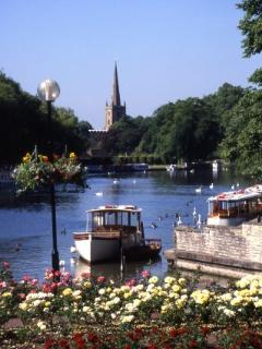 View down the river Avon