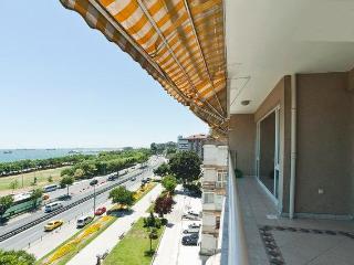 view from terrace to ATAKOY MARINA