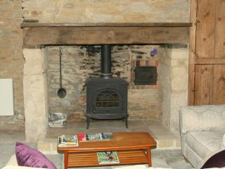 Woodburner in the living room