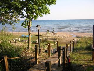 Beach house on Lake Michigan, Mackinac County