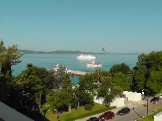 Tourist boats on the way towards beautiful islands around Zadar
