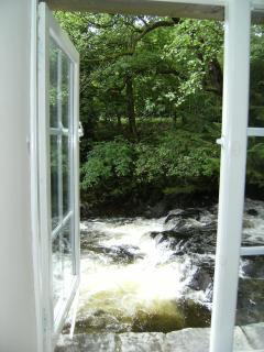 View out of the lounge window, right onto the beck