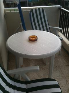 outside seating for 2