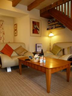 A corner of the lounge area. Welcome Basket with Border specialities including local honey and eggs