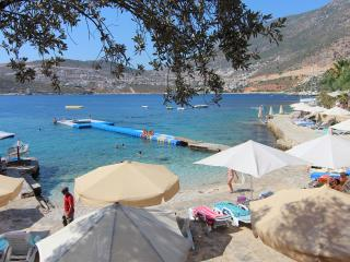 The beach club just 80m from your door step with turquoise clear water, cafe, slide and water taxi.