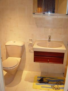 Salle d'eau additionnel pour pouvoir faire un brin de toilette avec deuxième wc
