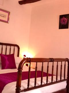 Olive House plum bedroom