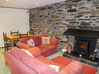 Cosy seating around the mock-flame electric fire