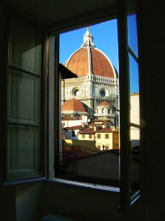 View on the Duomo from the living room window