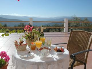 Huge terrace overlooking the beautiful Andalucian countryside, perfect for eating outside
