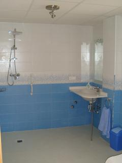 Lots of room in the wet rooms with guaanteed non slip floors