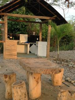 Cocina en zona de camping
