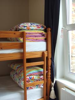 Bunk beds, full sized single beds