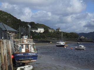 Orielton Hall viewed from Barmouth Harbour