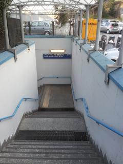 The entrance of the station