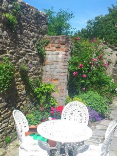 Relax in the pretty courtyard garden.