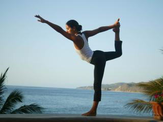 Yoga on the beach at Cabinas Ola Mar