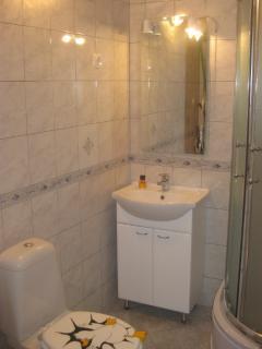 a bathroom on the 1st floor