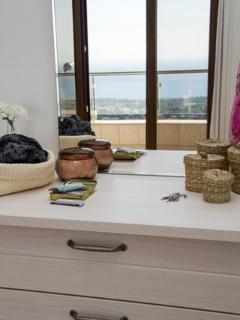 Dressing Table reflection of sea view