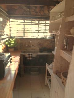 Kitchen - Fully self-catering, compact, organised and extremely functional.