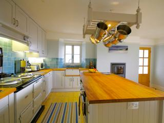 A great kitchen for budding chefs & for those watching,  a glass of wine .