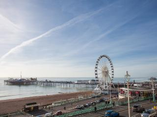 View of the sea, Palace Pier and Brighton Eye from the lounge window