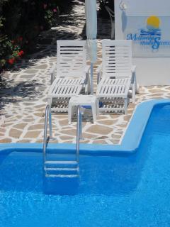 Sdraio a bordo piscina vicinissime all'appartamento