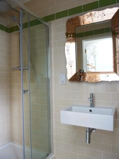 he on-suite shower, WC and washbasin has been thoughtful designed using hi spec fittings