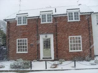Swan Cottage in the snow