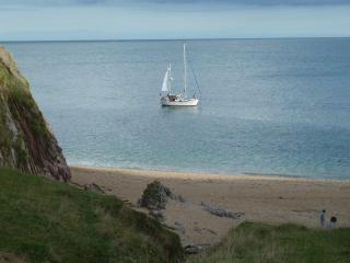 Landcombe Cove Strete, our secret beach..