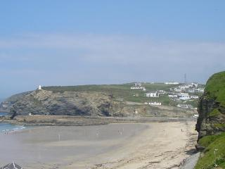 The beach at Portreath - just a few yards away