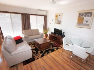 Lounge area is north-facing and has large TV, dvd player and WiFi music system