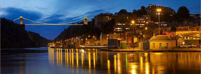 Clifton Suspension Bridge, one mile away