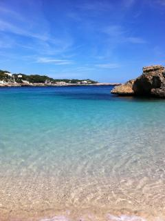 The beautiful clear crystal waters of des Pou.