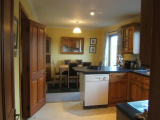 kitchen/dining area. dishwasher, fridge/freezer,microwave,utility room with washing machine and drye