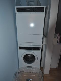 Washmachine and dryer in apartment