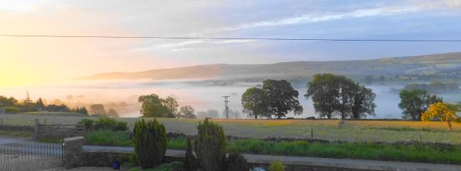 early morning view from cottage